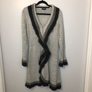 Sweaters - CARDIGAN LONG GRAY